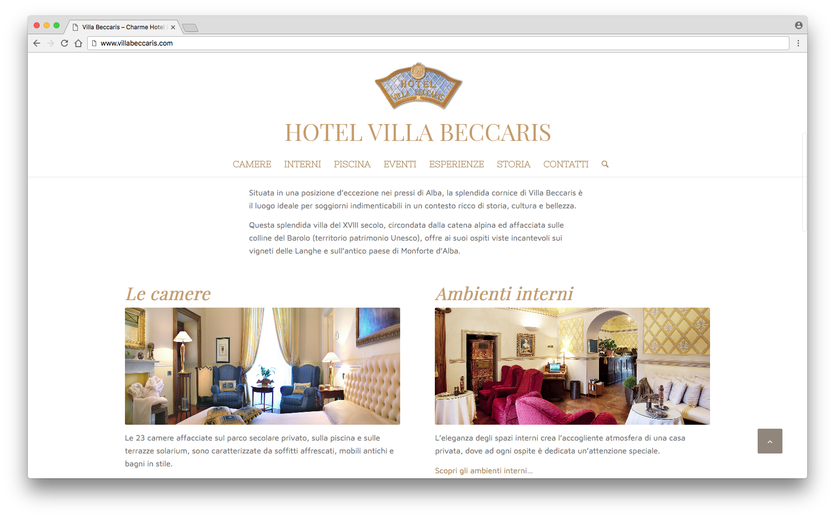 Our new website is online – Villa Beccaris